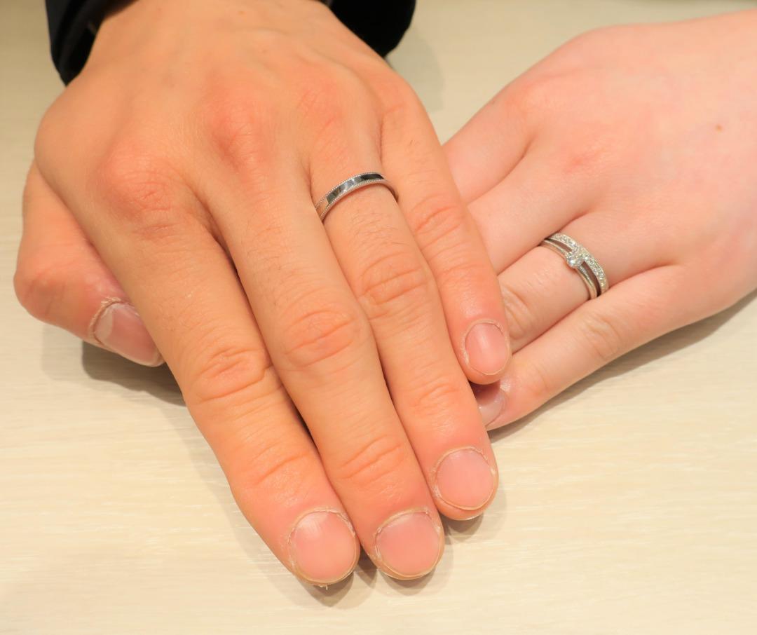 婚約指輪のダイヤモンド選びや結婚指輪のデザイン決め、親身な接客が印象的でした