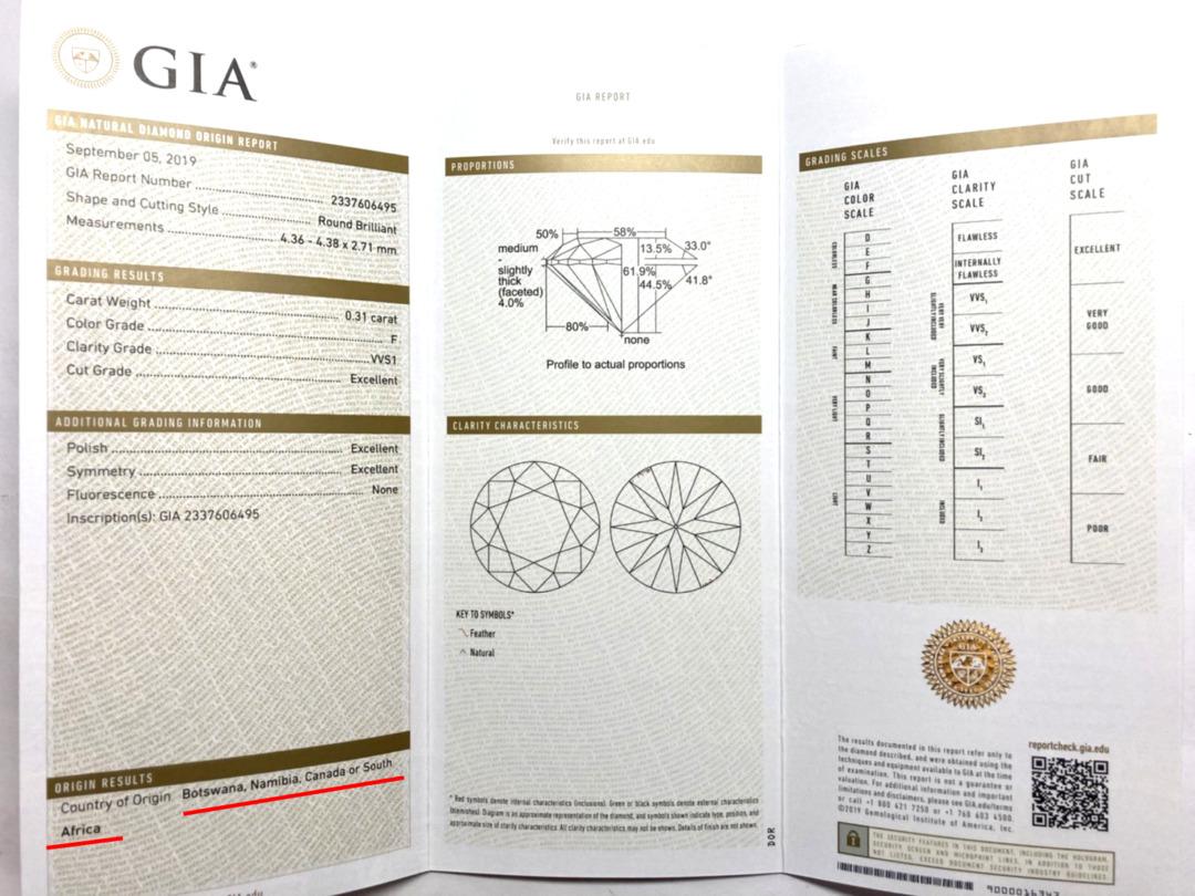 GIAオリジンはダイヤモンドの産地証明