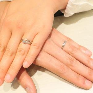 銀座で見つけた結婚指輪は、プラチナ&ピンクゴールドの可愛いデザイン