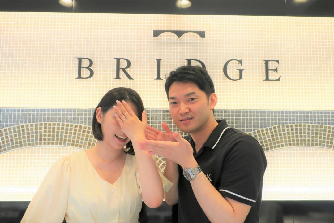 サプライズプロポーズ成功!ダイヤモンドラインがかわいい婚約指輪にしました!