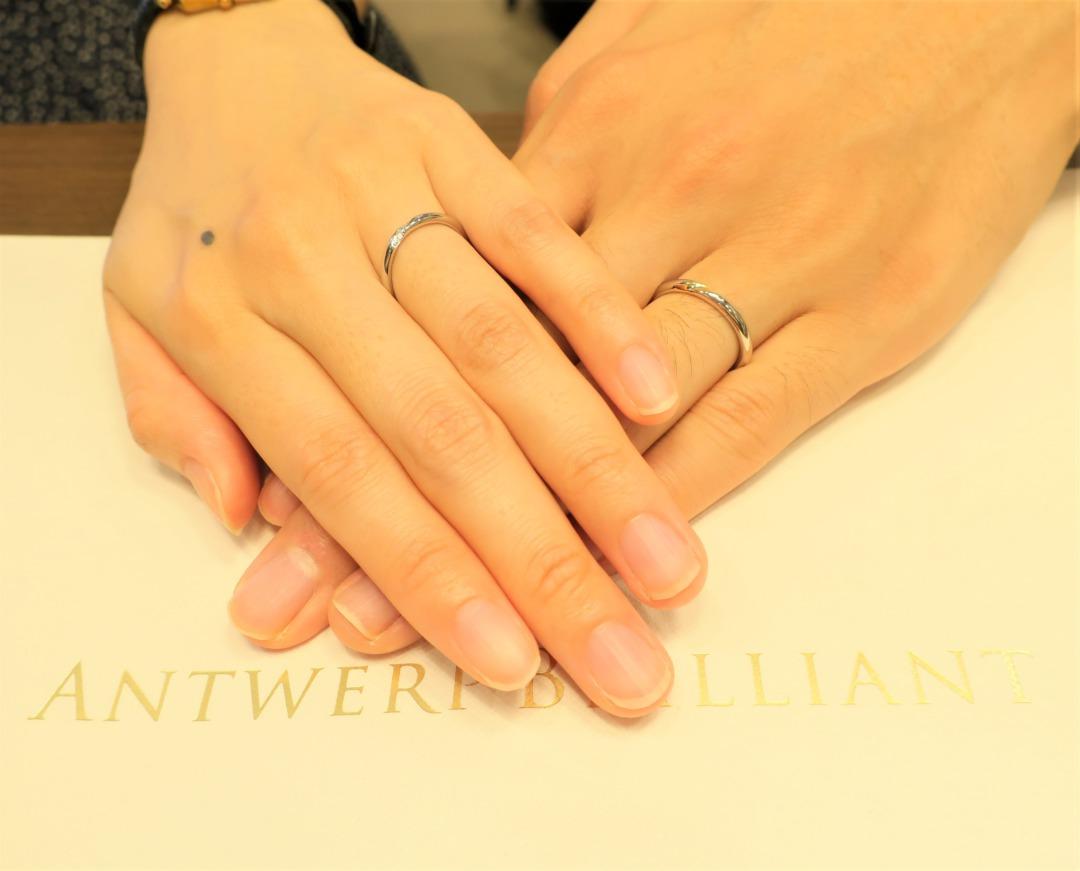 デザインアレンジで二人にぴったりお気に入りの結婚指輪に出会えました