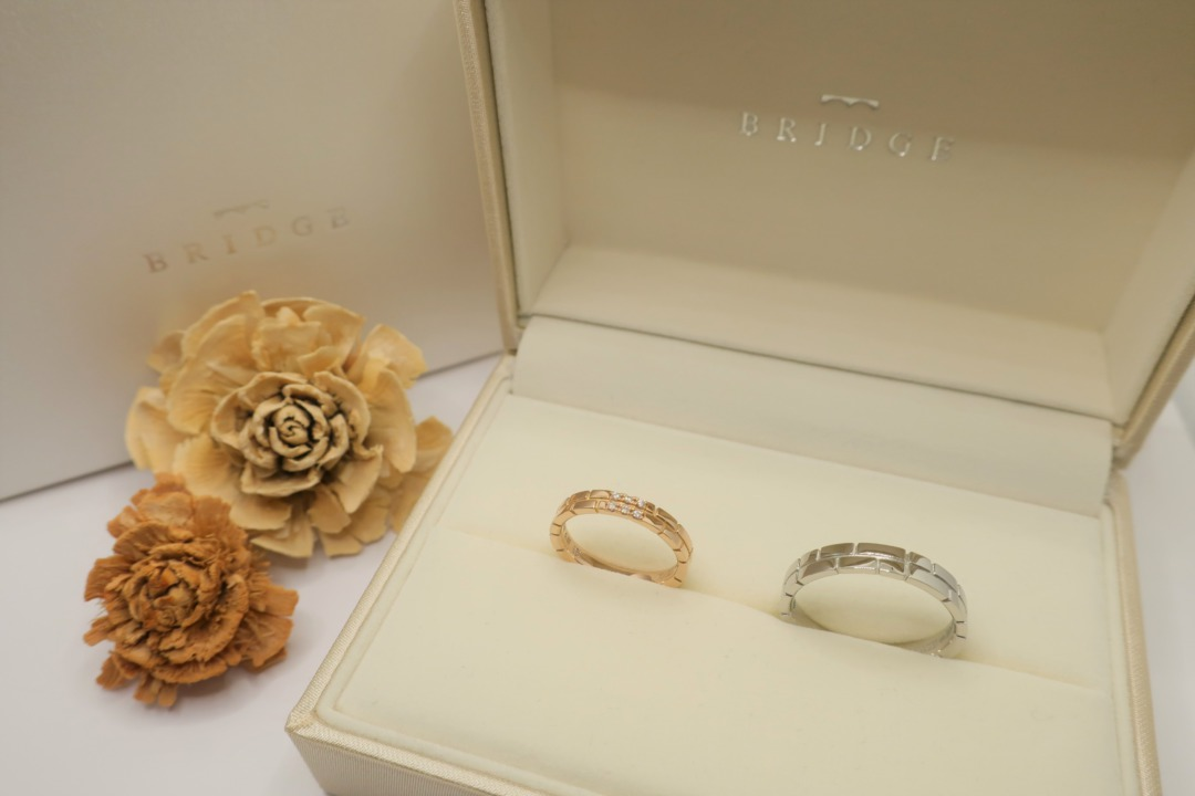 シンプルでお洒落なブリッジ銀座で人気の結婚指輪