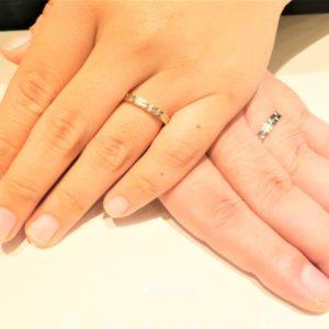 探し求めていた個性的な結婚指輪を見つけることが出来ました♪