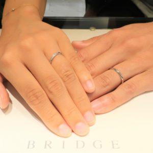 オシャレ&シンプルなデザインのニーズに応えてもらい、素敵な結婚指輪になりました!