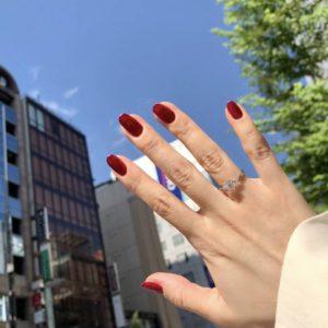 オシャレでかわいい、【桜モチーフ】のフルオーダーメイドの婚約指輪